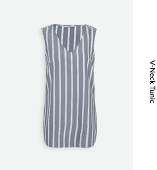 Striped V-neck tops are one of our favourite trends – find them now at George at ASDA