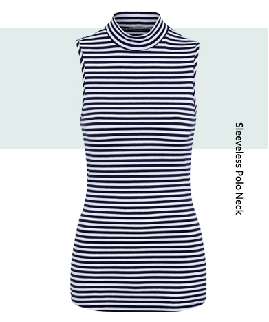 Earn your stripes with striped sleeveless tops and roll neck tops from George