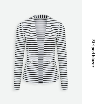 With its zipped pockets and cropped shape, this striped blazer is smart-casual perfection