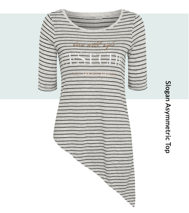 Work LA style clothing into your look with our George asymmetric hem striped tee
