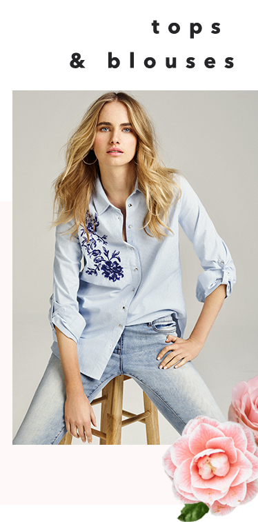 Switch up a smart shirt with pretty embroidery at George.com