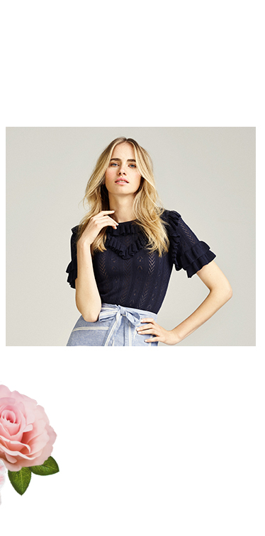 Ruffle things up with a frilly top at George.com