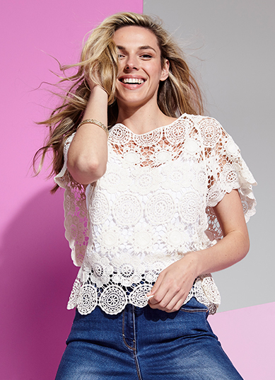 Peekaboo! Fall in love with romantic crochet tops and crochet crop tops for women