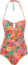 Tropic Print Bandeau Swimwear
