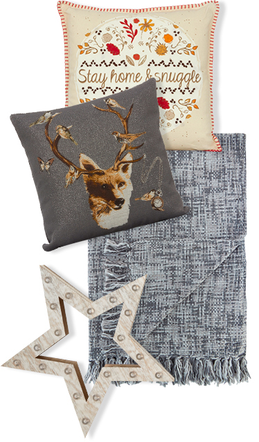 From throws to trendy cushions, shop gifts ideas for the home at George.com